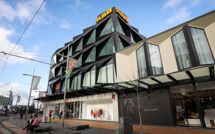 Exterior shots of ASB's office in Christchurch