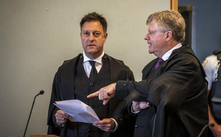 Crown Prosecutor Simon Foote QC (left) and Defence lawyer David Jones QC.