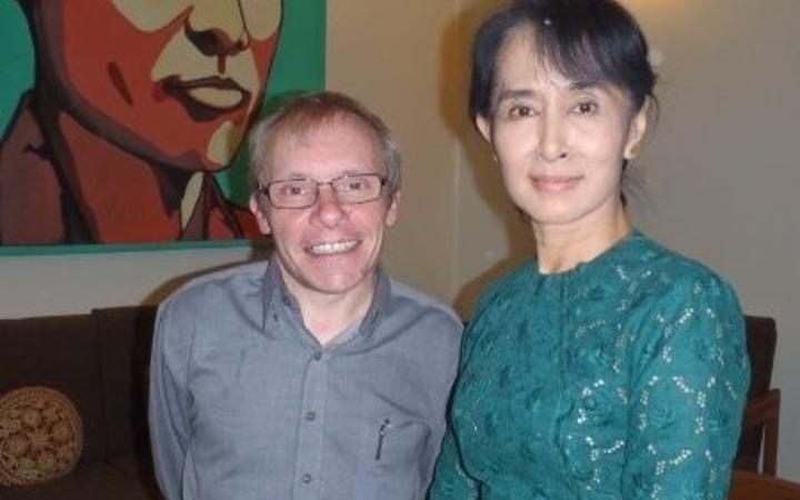 Australian economics professor Sean Turnell and Aung San Suu Kyi