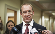 14062016 Photo: RNZ/Rebekah Parsons-King. Andrew Little, caucus run.