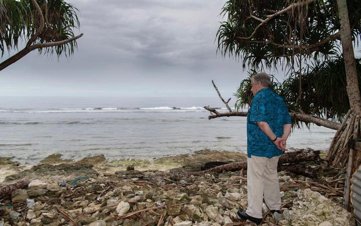 """The Secretary-General of the United Nations Antonio Guterres visited Tuvalu in 2019 and described the tiny Pacific Island nation as """"the extreme front-line of the global climate emergency""""."""