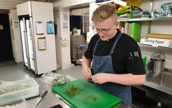 Logan Brown prep chef Josh.