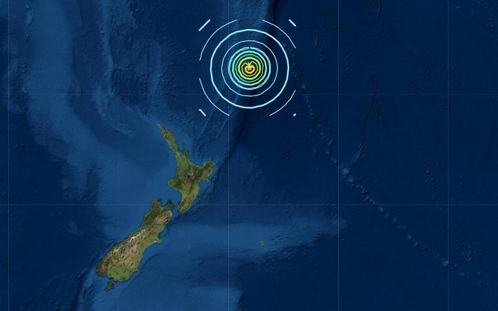 A 7.4 quake struck near the Kermadec Islands