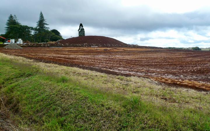 Land on Pukekohe Hill used for early potatoes now being readied for development