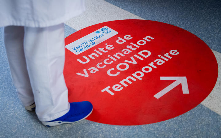 The Gaston-Bourret Hospital Center dispenses Covid-19 vaccine injections in Noumea. New Caledonia, Noumea, February 17, 2021