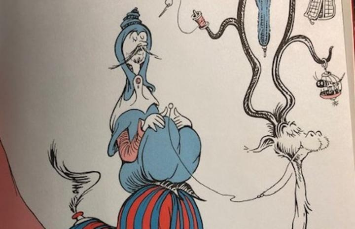 The offensive illustration from On Beyond Zebra, one of the six Dr Seuss books that will no longer be published