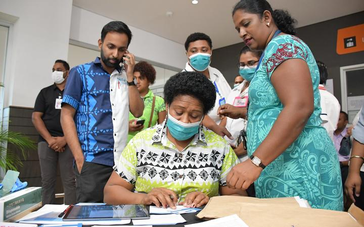 Vaccine registration in Fiji