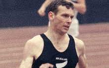 Peter Snell in the 1500m final at the Tokyo Olympics, 1964.