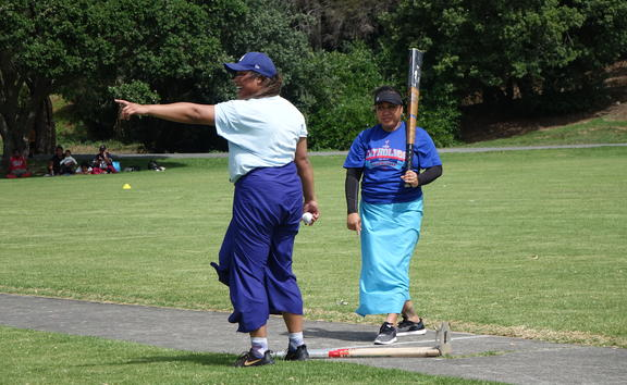 Women were invited to compete in the Church of Origin kilikiti tournament for the first time this year.