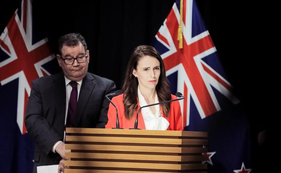 Finance Minister Grant Robertson and PM Jacinda Ardern unveiling the plan to help first-home buyers.