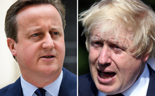 David Cameron, left, and Boris Johnson.
