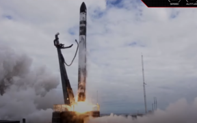 Rocket Lab's They Go Up So Fast launch which included a satellite called 'gunsmoke j' on 23 March, 2021.
