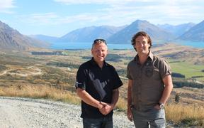 NZSki chief executive Paul Anderson and The Remarkables ski area manager Ross Lawrence.