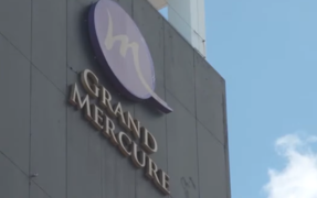 Grand Mercure in Auckland which is being used a managed isolation facility.
