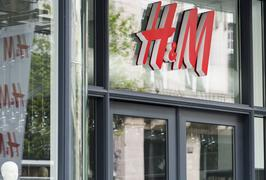 H&M logo and store in Antwerp
