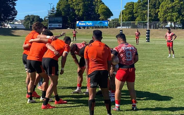 The Tonga sevens team played games against two All Blacks Sevens teams in February.
