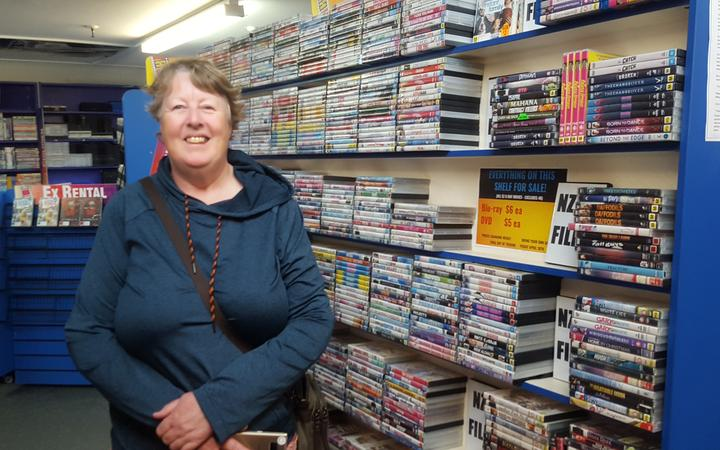 Barbara Drayton says she will miss visiting a local store for her DVDs and chatting with the friendly staff.