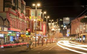 Courtenay Place in the capital's entertainment district.