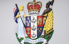 120514. Photo Diego Opatowski / RNZ. Coat of arms. Court