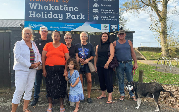 Despite the council saying no one has been asked to leave the holiday park, this group of permanent residents and many others all say they have been told to go.