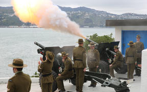 The birth was marked with a 21-gun salute at Point Jerningham in Wellington.