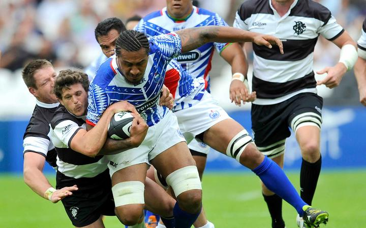 Manu Samoa first played the Barbarians in 2015.