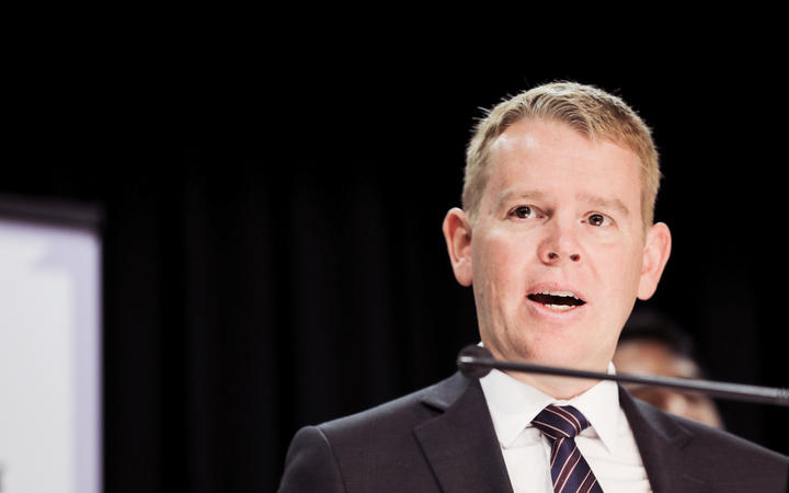 Minister for Covid-19 Response Chris Hipkins at 1pm Covid briefing, 14 April 2021.