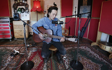 Marlon Williams playing in The Sitting Room, Lyttelton
