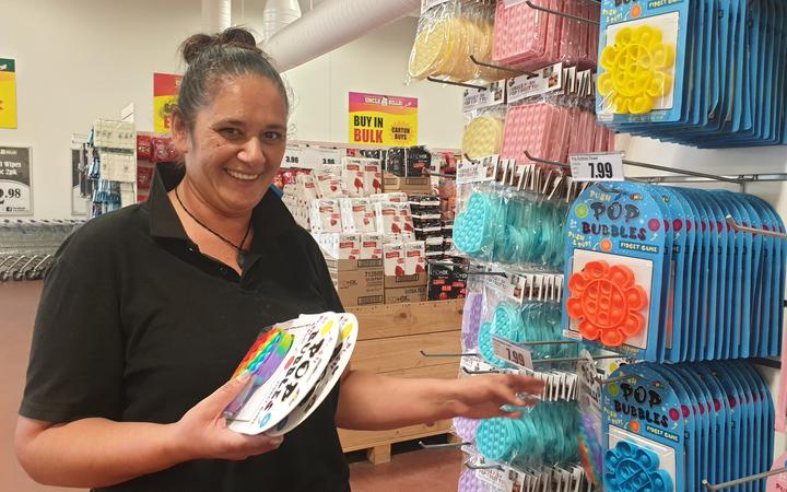 Pam Evans, from Uncle Bills in New Plymouth, says Pop-Its sell out as soon as they go on the shelves.