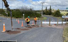 Chicanes are being installed at the Ruapehu Rd rail over-bridge to help limit the size of vehicle that can cross over it.