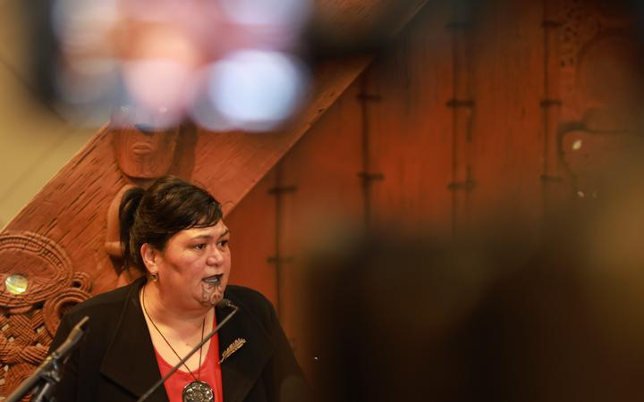 Minister of Local Government Nanaia Mahuta at the announcement of a review of local government.