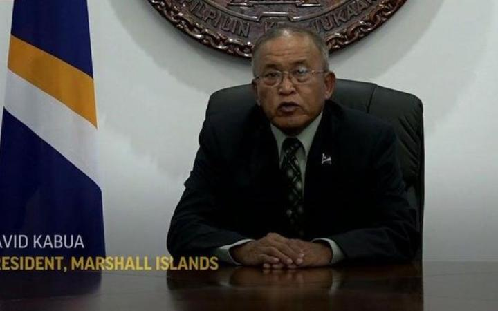 Marshall Islands President David Kabua