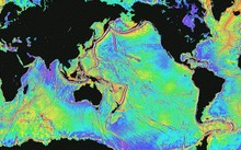 The world's ocean floor as measured from space