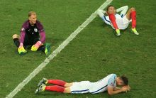 England players Joe Hart, Dele Alli and Gary Cahill after their Euro 2016 loss to Iceland.