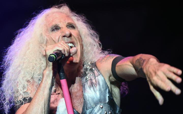 "Singer Daniel ""Dee"" Snider of the US heavy metal band ""Twisted Sister"" performs during a concert at the ""Red Stage"" under the ""Nova Rock 2016"" Festival on June 12, 2016 in Nickelsdorf."