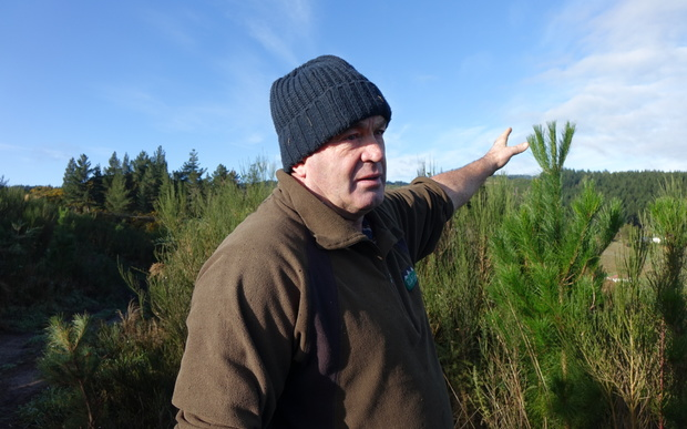 Kaitangata farmer and project organiser Evan Dick, at the site of some of the new sections