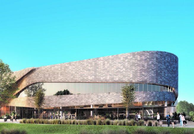 An artist's impression of what the new Christchurch Convention Centre would look like.