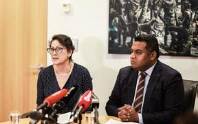 Police Minister Poto Williams and Justice Minister Kris Faafoi announced changes to gun legislation on 11 May 2021.