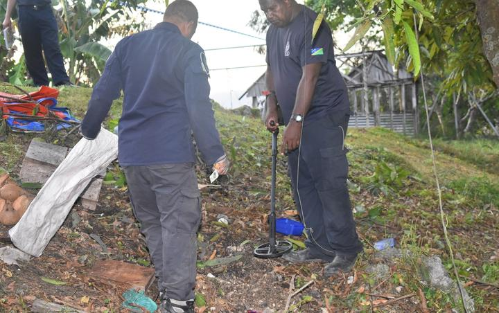 Scanning for UXO's at the Lengakiki site.