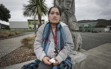29062016 Photo RNZ / Rebekah Parsons-King. Situa Tangatauli works three jobs on a minimum wage and struggles to feed her family, she is hoping to get a living wage to better the lives of her family.
