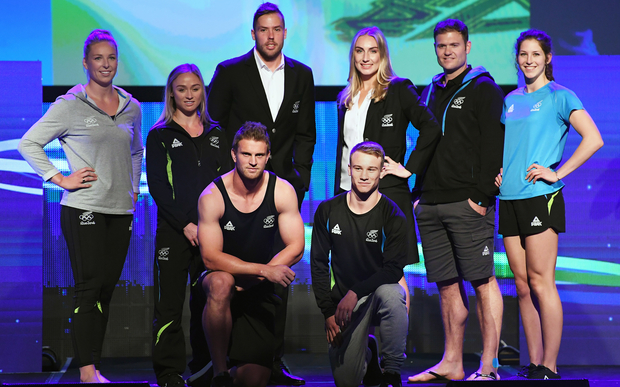 New Zealand Olympic Team's uniform to Rio 2016 at the Prime Minister's Olympic Gala Dinner.