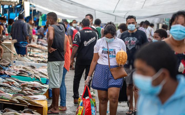 Suva's fish market in late April 2021