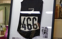 The black singlet that sold at auction for $122,500