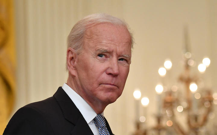 US President Joe Biden delivers remarks on the Covid-19 response and the vaccination in the East Room at the White House in Washington, DC on 17 May 2021.