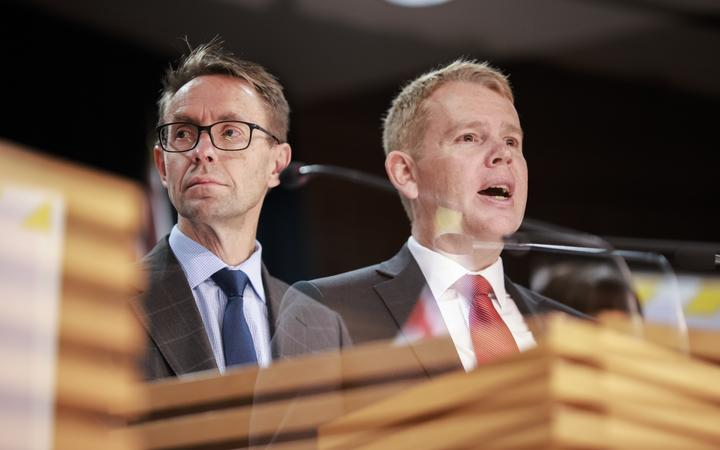 Director-General of Health Ashley Bloomfield and Covid-19 Response Minister Chris Hipkins.