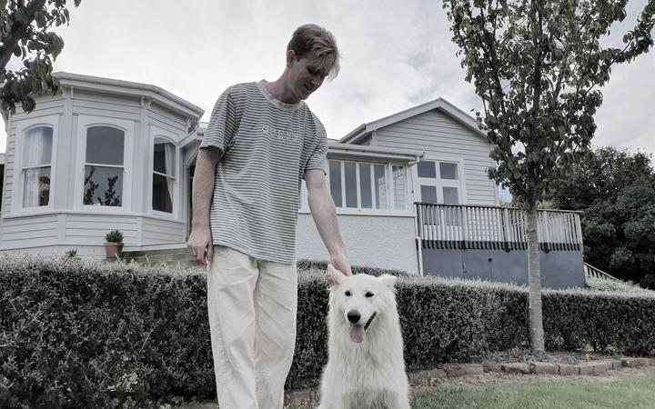 Johnty and his dog Ghost