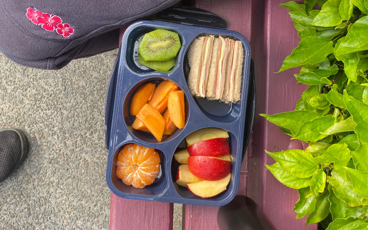 A school lunch of a student at Yendarra School in Ōtara.