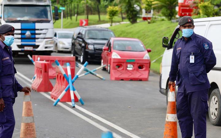 Fiji police covid cordon