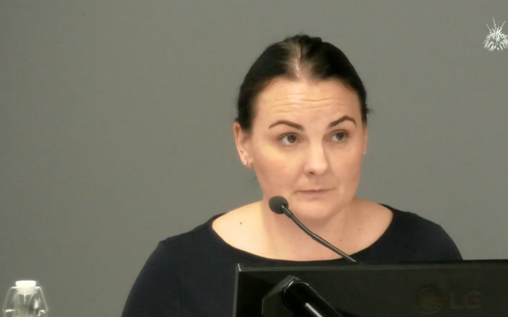 Medical Council deputy chief executive Aleyna Hall at the abuse in care inquiry.