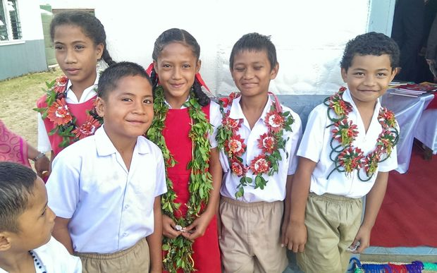 School children from Tonga's Ha'apai Islands.